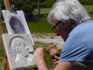 portrait en marbre