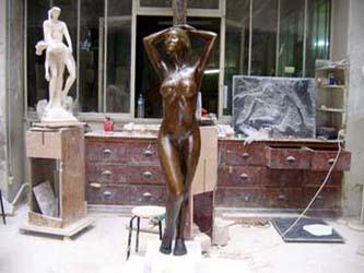 Statue en bronze d'après modèle vivant