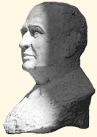Plâtre original du buste de M. André Léotard