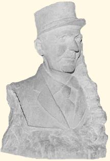Buste en pierre du Général Le Flem (taille directe) Caserne La Grace de Dieu, Caen