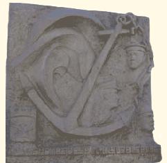 Stèle commémorative de l'AMMAC (taille directe) Mémorial des Marins Péris en Mer, Golfe-Juan