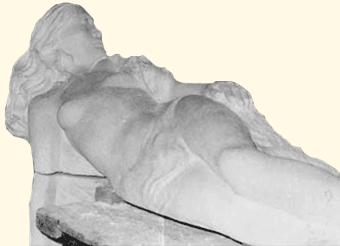 Gisant en pierre (détail), Vallauris
