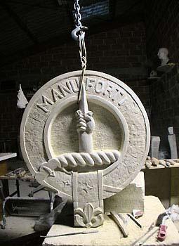 Blason aux armoiries d'un clan écossais Taille directe
