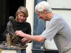 Claris Garnier durant son stage de sculpture professionnel