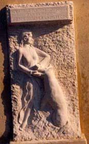 1988 - Bas-relief Ecole de Roquesteron Taille directe - H: 200 cm