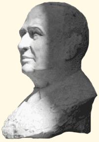 1981 : Buste en plâtre de M. André Léotard, ancien maire de Fréjus.