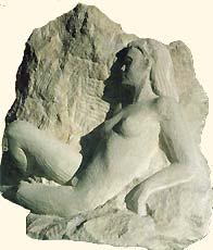1989 - Haut-relief en taille directe Hauteur : env. 20 cm