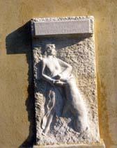 Bas-relief pour l'école de Roquesteron Sculpture décorative