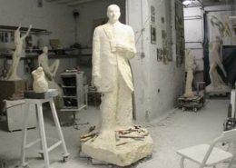 Une vue de l'atelier du sculpteur Janvier 2009