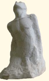 Homme en marbre Taille directe Sculpture en cours de création