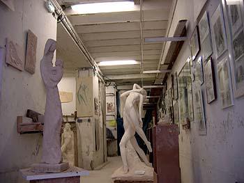 L'atelier de l'artiste sculpteur à Nice