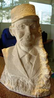 1972 Le buste du Général Le Flem Taille directe