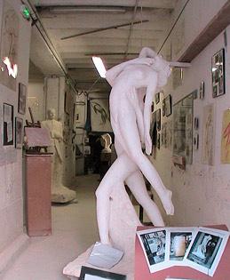 """""""Le Cantique des Cantiques"""" à l'entrée de l'atelier"""