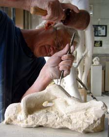 Création de la sculpture