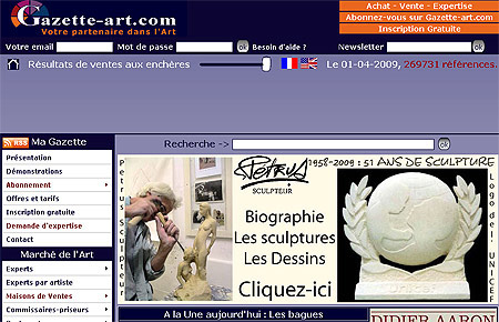 """La Gazette des Arts"", avril 2009"