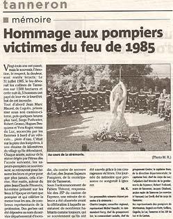 Var Matin, 01/08/2008 Article sur la cérémonie du 31 juillet 2008