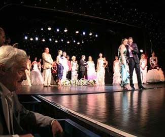 Lors de la soirée Miss Nice 2009 : élection d'Anaïs Governatori