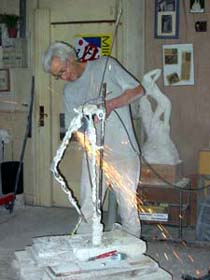 Les débuts de la création de l'armature.