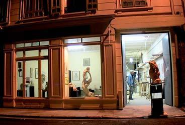 L'atelier de sculpture à Nice