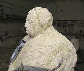 Le profil du visage de la statue : Août 2008