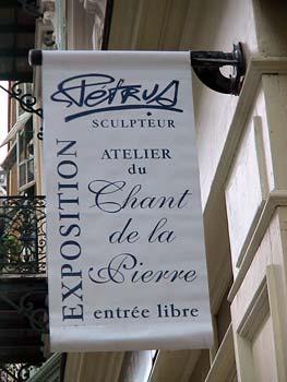 """Exposition dans l'atelier du sculpteur """"Le Chant de la Pierre"""""""