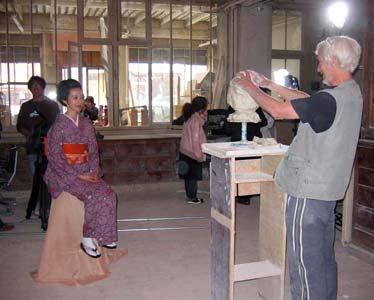 Une photo prise lors du tournage du téléfilm consacré à Rodin