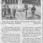 Le Mémorial du Tanneron lors de la cérémonie du 31 juillet
