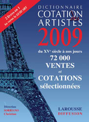 Le dictionnaire Drouot Cotations 2009