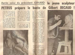Le journal présente l'auteur du buste du président de l'Union Internationale de Cyclisme.