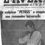 """La """"Une"""" du journal """"l'Avenir de l'Ile de France"""""""