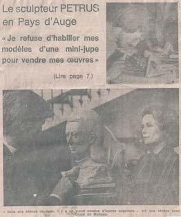 La photo avec Grace de Monaco en Une du journal L'artiste défend la pureté de la sculpture de nu