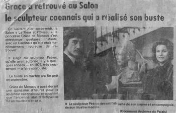Article de Paris-Normandie sur la visite de la Princesse au Salon de la Fleur et de l'Oiseau, à Caen.