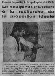 1971 : l'artiste prépare son exposition à la S.O.C.A, à Caen.