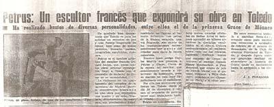 L'artiste français expose à Tolède, Espagne.