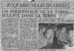 Article sur la création du buste en modelage de M. Chauvier