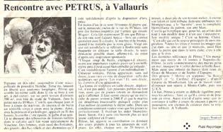 Pétrus dans Paris-Match
