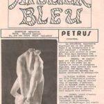 Portrait de l'artiste dans le journal de l'Atelier Bleu, à Vallauris
