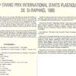 Palmarès du Grand Prix International d'Arts Plastiques de St Raphaël