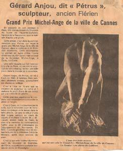 L'Orne Combattante dresse un portrait du Sculpteur Pétrus à l'occasion du Grand Prix Michel-Ange de la Ville de Cannes