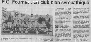 Pétrus et l'équipe du Football Club de Fournas