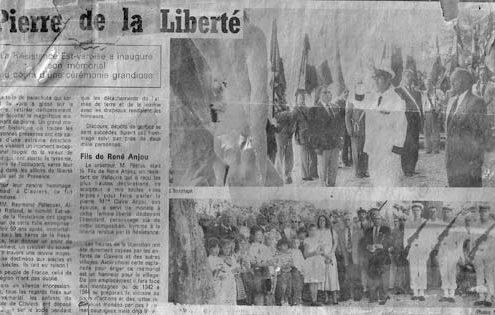 L'inauguration du Monument de la Résistance