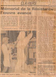 Le Mémorial de la Résistance dans Nice Matin