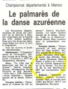 """Remise du """"Petrus d'Or"""" à la jeune danseuse Adeline Pastor."""