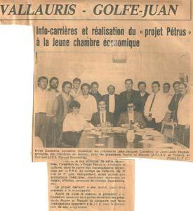 """A Vallauris : réalisation du """"Projet Pétrus"""" (artistique et culturel)."""