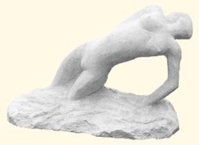 1987 - Sculpture en taille directe, offerte à l'occasion d'un évènement à vocation humanitaire organisé par le Lions Club de Cannes.