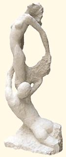 """""""Antigone"""" Sculpture en pierre de Bourgogne"""