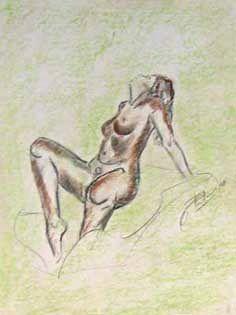Corps de femme - Dessin au pastel