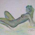 Dessin au pastel vert, 1998