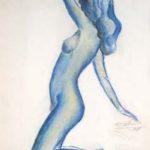 Etude de nu - Femme de profil - Pastel, 1999