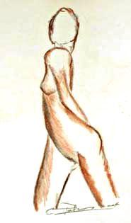 Etude de nu à la sanguine, 1993